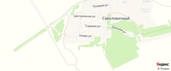 Новая улица на карте Свекловичного поселка с номерами домов