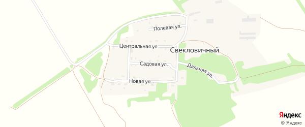 Садовая улица на карте Свекловичного поселка с номерами домов