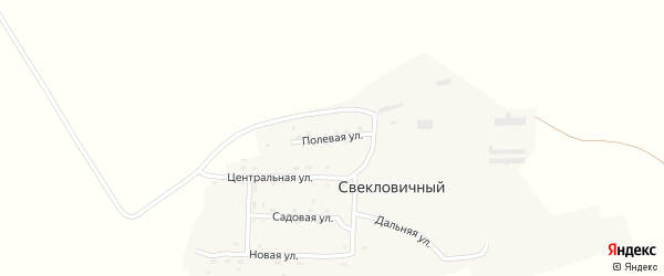 Полевая улица на карте Свекловичного поселка с номерами домов