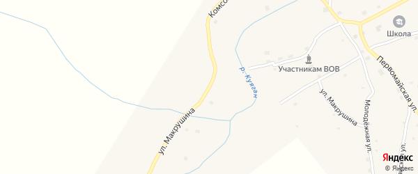 Улица Макрушина на карте села Куягана с номерами домов