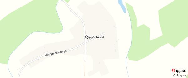 Центральная улица на карте поселка Зудилово с номерами домов