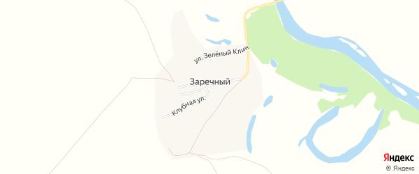 Карта Заречного поселка в Алтайском крае с улицами и номерами домов