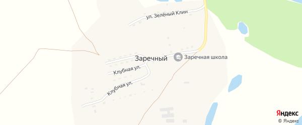 Клубная улица на карте Заречного поселка с номерами домов