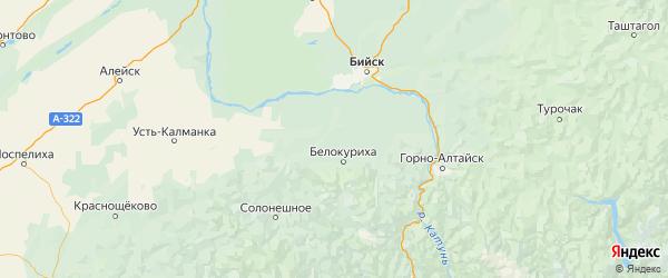 Карта Смоленского района Алтайского края с городами и населенными пунктами