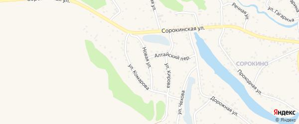 Новая улица на карте Заринска с номерами домов