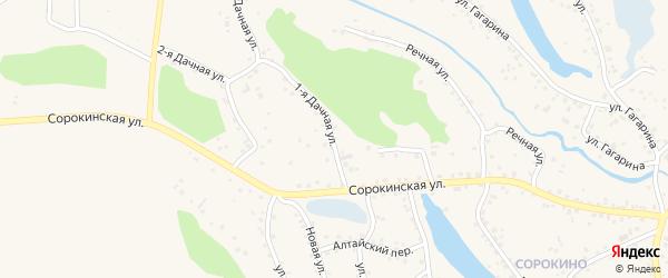 1-я Дачная улица на карте Заринска с номерами домов