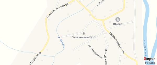 Куяганская улица на карте села Куягана с номерами домов