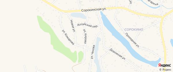 Улица Кирова на карте Заринска с номерами домов
