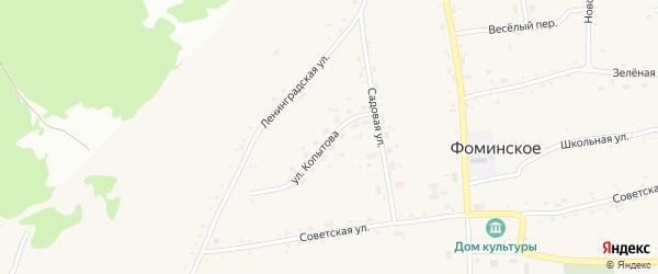 Улица Михаила Копытова на карте Бийска с номерами домов