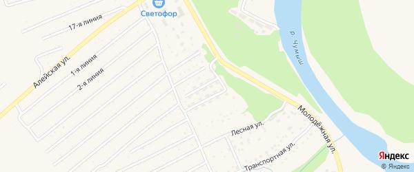 Улица Монтажников на карте Заринска с номерами домов