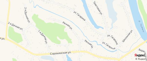 Речная улица на карте Заринска с номерами домов