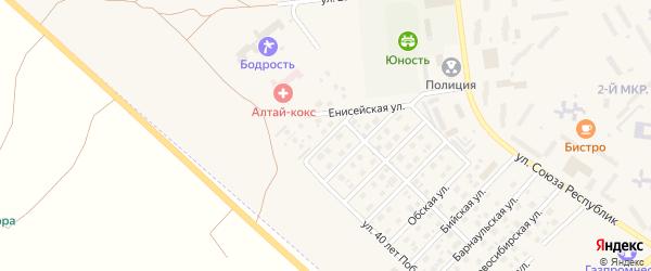 Спортивная улица на карте Заринска с номерами домов