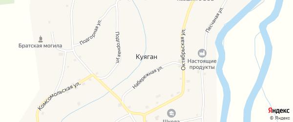 Советская улица на карте села Куягана с номерами домов