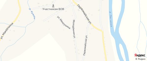 Молодежная улица на карте села Куягана с номерами домов