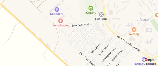 Улица Коксохимиков на карте Заринска с номерами домов