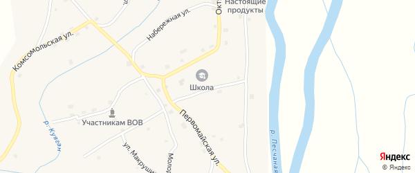 Школьный переулок на карте села Куягана с номерами домов
