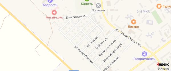 Улица Германа Титова на карте Заринска с номерами домов