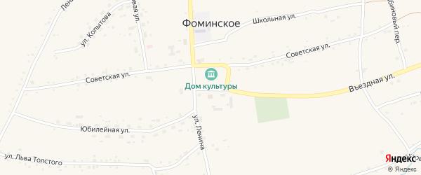 Песчаная улица на карте Фоминского села с номерами домов
