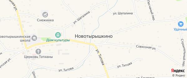 Восточный переулок на карте села Новотырышкино с номерами домов