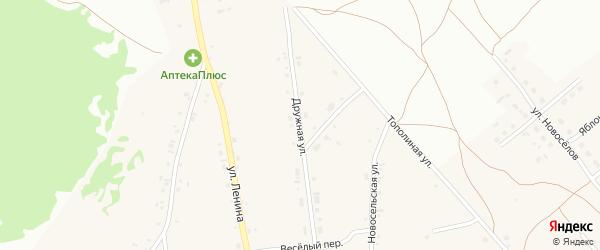 Дружная улица на карте Фоминского села с номерами домов