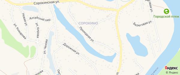 Проходная улица на карте Заринска с номерами домов