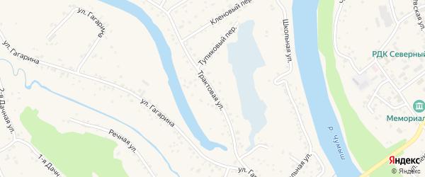 Трактовая улица на карте Заринска с номерами домов