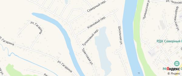 Тупиковый переулок на карте Заринска с номерами домов