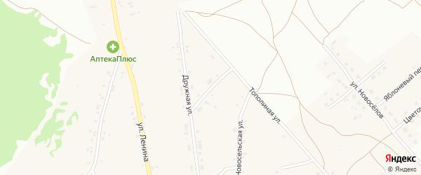 Сквозной переулок на карте Фоминского села с номерами домов