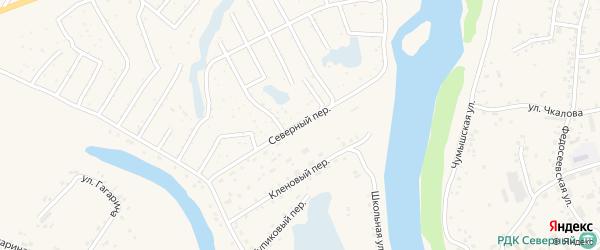 Северный переулок на карте Заринска с номерами домов