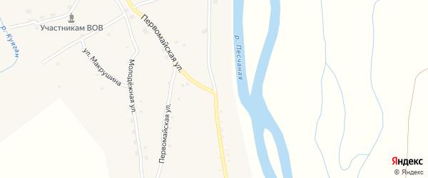 Песчаная улица на карте села Куягана с номерами домов