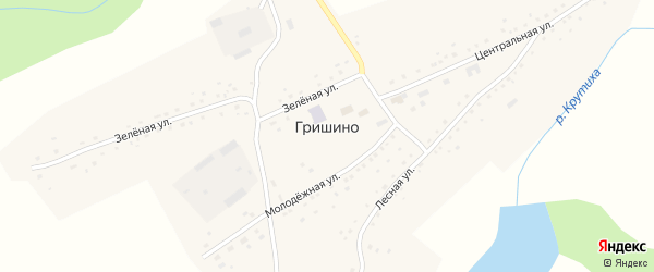 Улица Завет на карте села Гришино с номерами домов