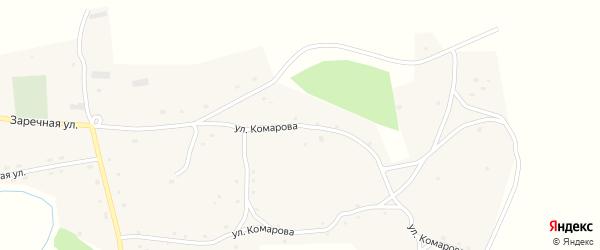 Улица Комарова на карте села Новотырышкино с номерами домов