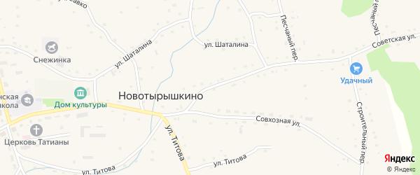 Советская улица на карте села Новотырышкино с номерами домов
