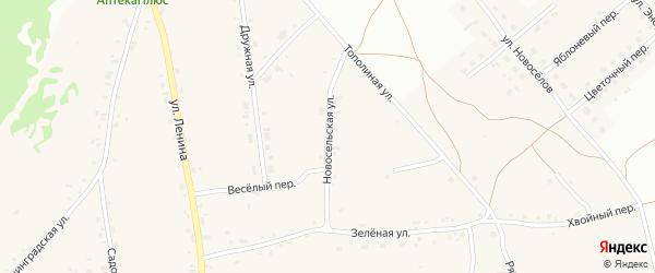 Новосельская улица на карте Фоминского села с номерами домов