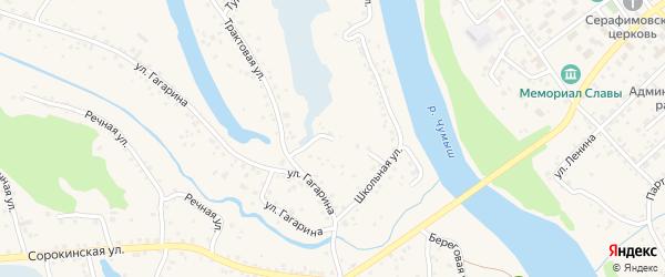 Болотный переулок на карте Заринска с номерами домов