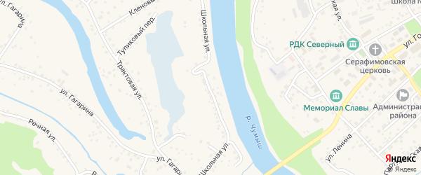 Школьная улица на карте Заринска с номерами домов