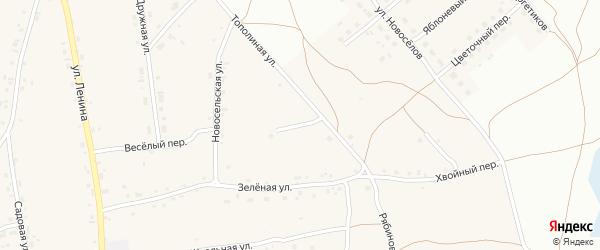 Сиреневая улица на карте Фоминского села с номерами домов