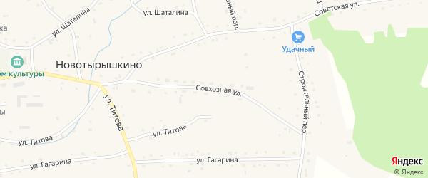 Совхозная улица на карте села Новотырышкино с номерами домов