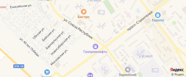 Улица Союза Республик на карте Заринска с номерами домов