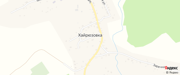Набережная улица на карте села Хайрюзовки с номерами домов