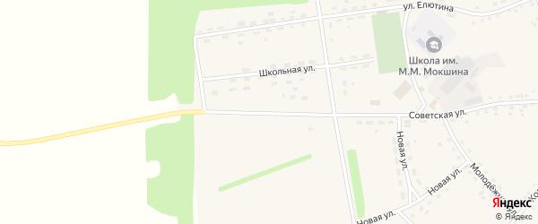 Советская улица на карте села Буланихи с номерами домов