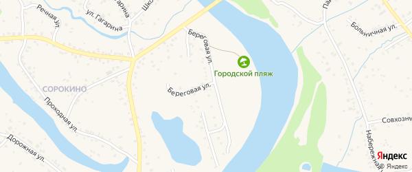 Береговая улица на карте Заринска с номерами домов