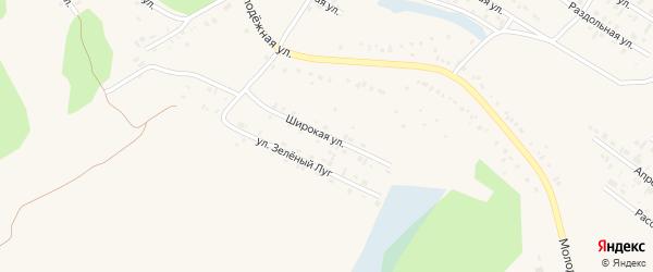 Широкая улица на карте Заринска с номерами домов