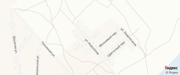 Весенний переулок на карте Фоминского села с номерами домов