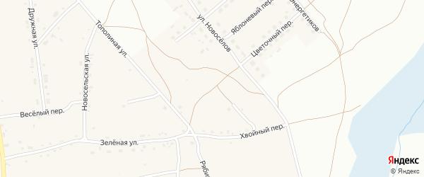 Радужный переулок на карте Фоминского села с номерами домов