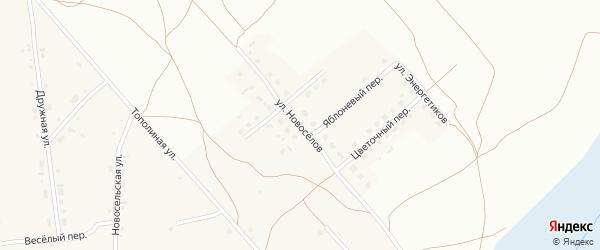 Улица Новоселов на карте Фоминского села с номерами домов