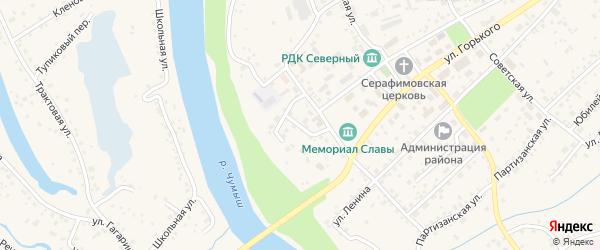 Пионерский переулок на карте Заринска с номерами домов