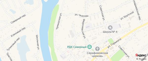 Мельничный переулок на карте Заринска с номерами домов