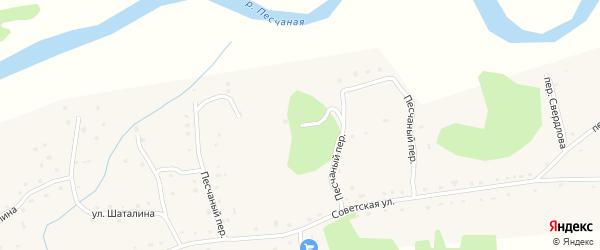 Песчаный переулок на карте села Новотырышкино с номерами домов