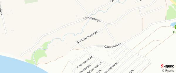 3-я Трактовая улица на карте Фоминского села с номерами домов